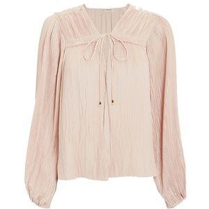 Ulla Johnson Top Pleated Pink Long Sleeve Tania 8